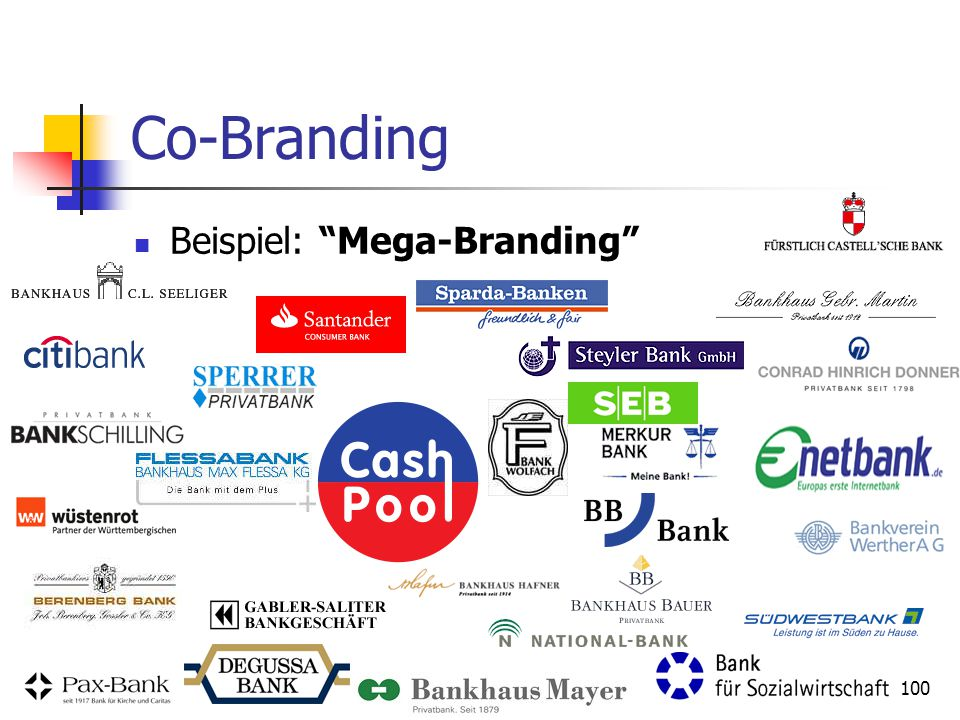 100 Co-Branding Beispiel: Mega-Branding