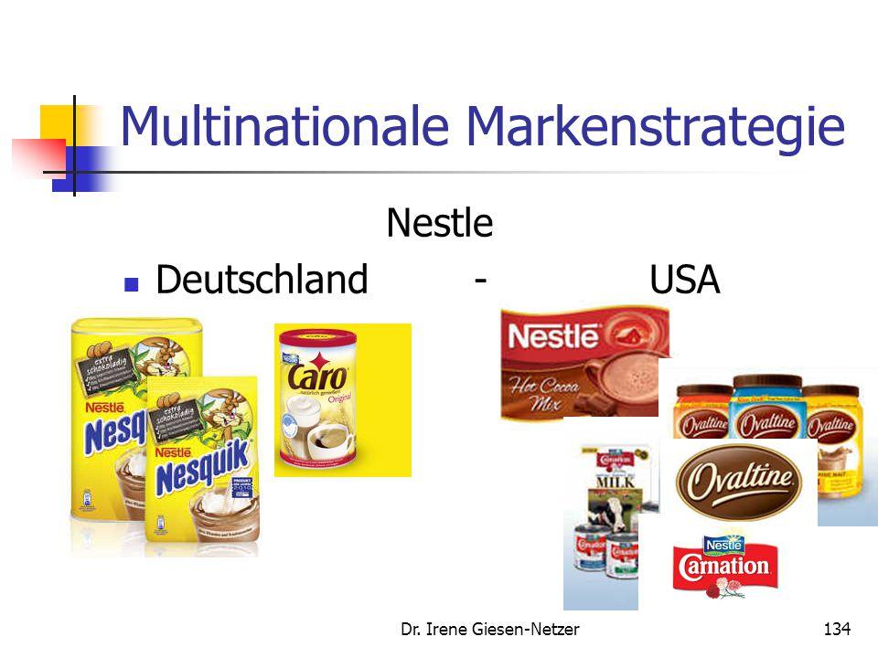 Multinationale Markenstrategie Nestle Deutschland - USA Dr. Irene Giesen-Netzer134