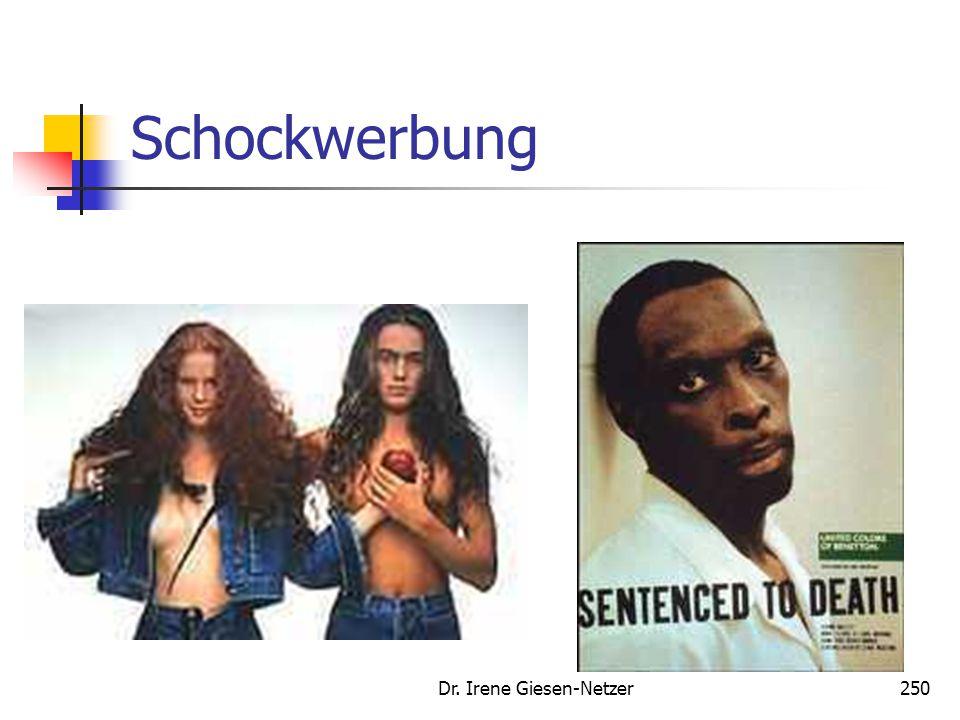 Dr. Irene Giesen-Netzer250 Schockwerbung