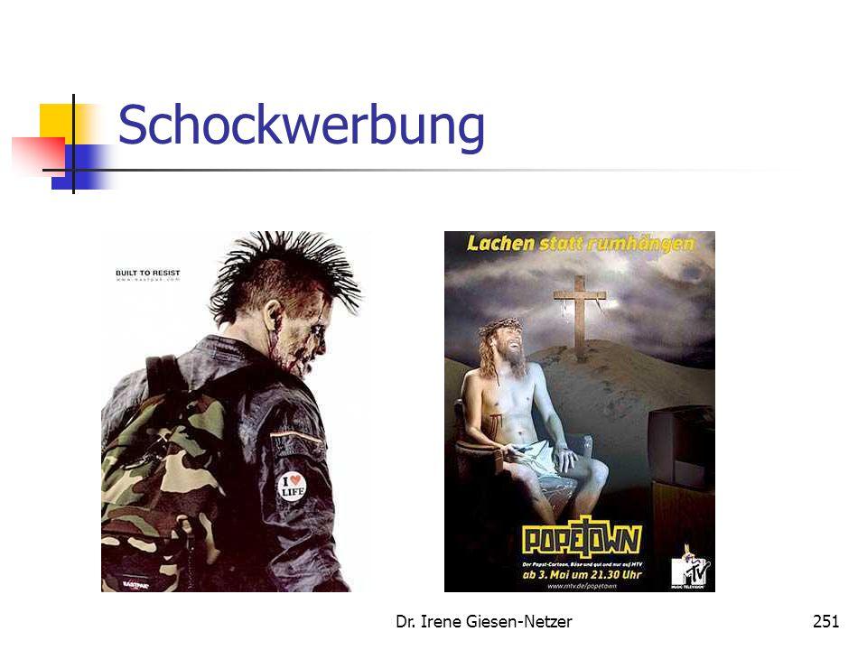 Dr. Irene Giesen-Netzer251 Schockwerbung