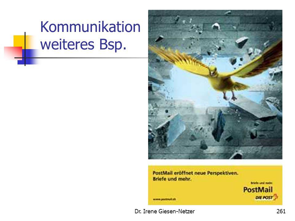 Kommunikation weiteres Bsp. Dr. Irene Giesen-Netzer261