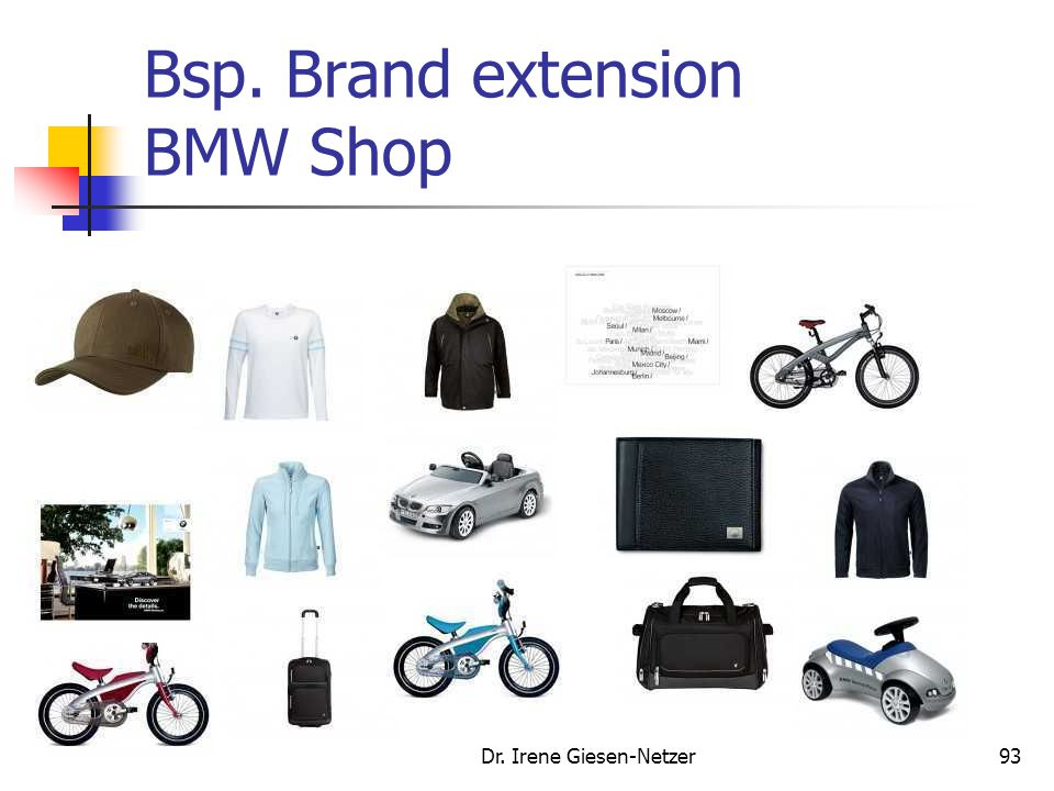 Dr. Irene Giesen-Netzer93 Bsp. Brand extension BMW Shop