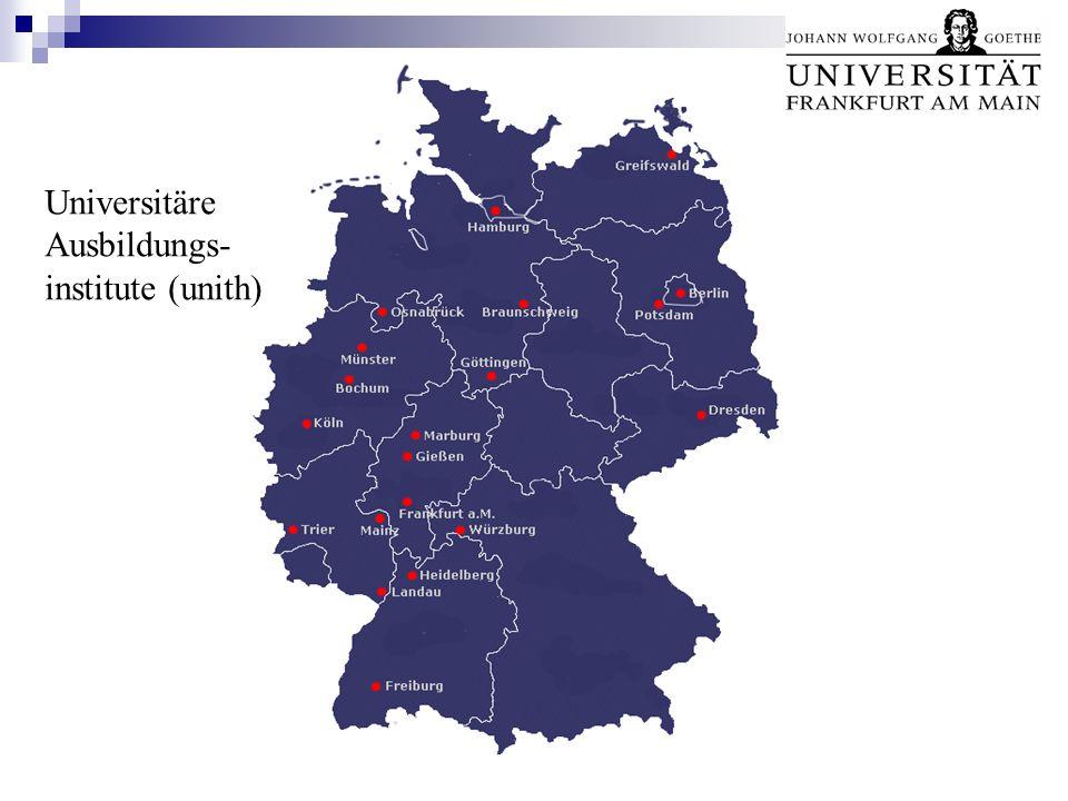 Unsere Institute und Ausbildungsgänge in der Übersicht Zur Listenansicht Universitäre Ausbildungs- institute (unith)