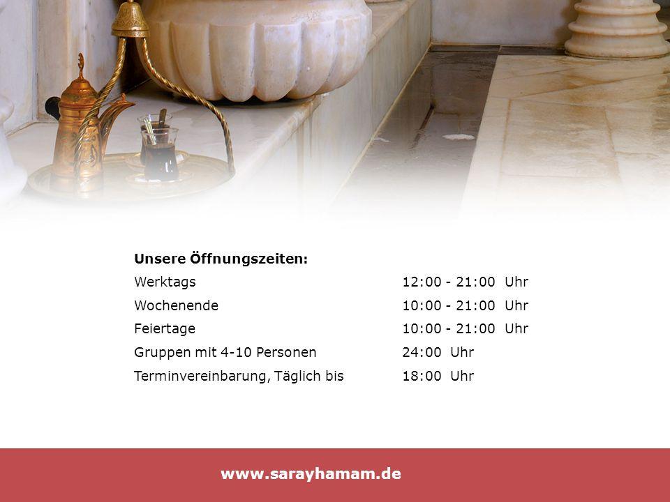 Unsere Öffnungszeiten: Werktags12:00 - 21:00 Uhr Wochenende10:00 - 21:00 Uhr Feiertage10:00 - 21:00 Uhr Gruppen mit 4-10 Personen 24:00 Uhr Terminvere