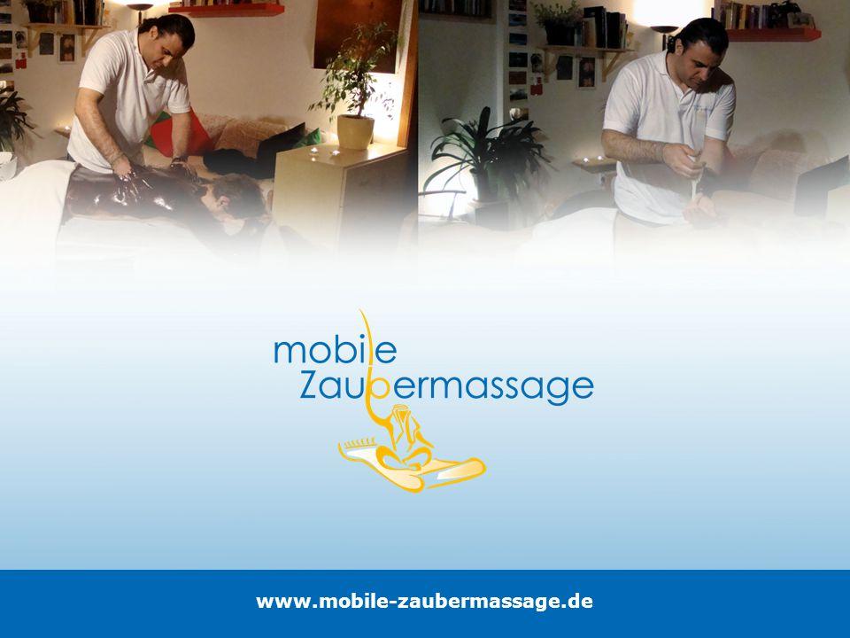 Die Mobile Zaubermassage Ein Wohlfühl- und Präventionsprogramm für den ganzen Körper, ist dank Mobile-Zaubermassage an ihrem Arbeitsplatz, im Hotel oder zuhause möglich.