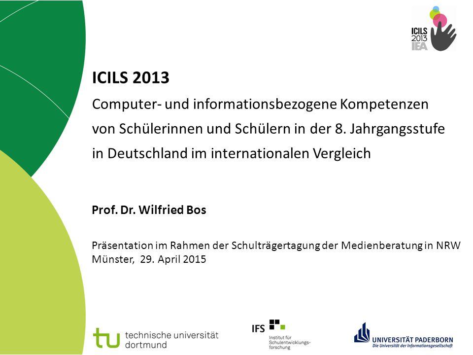 ICILS 2013 Computer- und informationsbezogene Kompetenzen von Schülerinnen und Schülern in der 8. Jahrgangsstufe in Deutschland im internationalen Ver