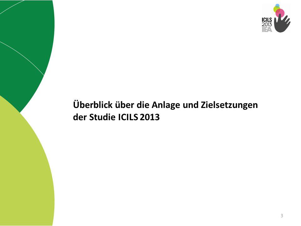 Überblick über die Anlage und Zielsetzungen der Studie ICILS 2013 3