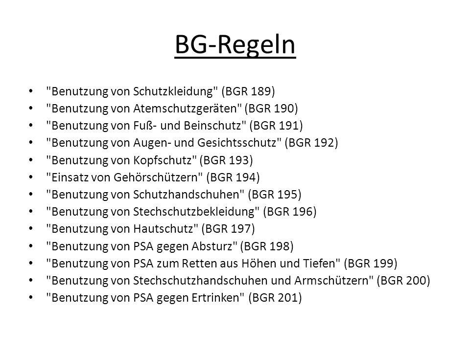 BG-Regeln