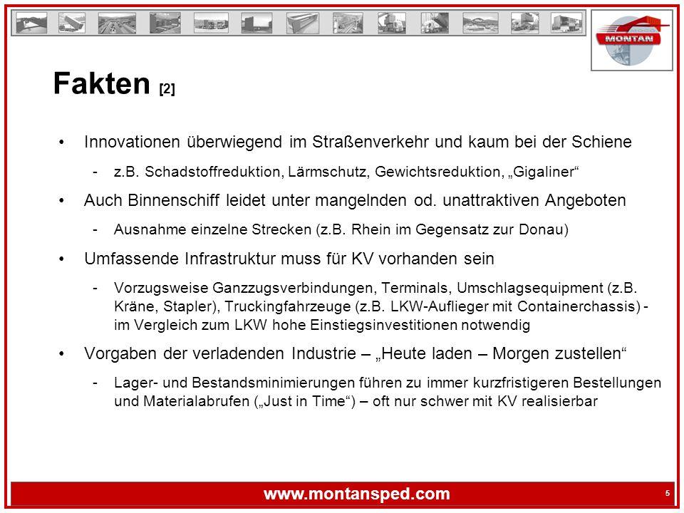 5 www.montansped.com 5 Innovationen überwiegend im Straßenverkehr und kaum bei der Schiene -z.B.