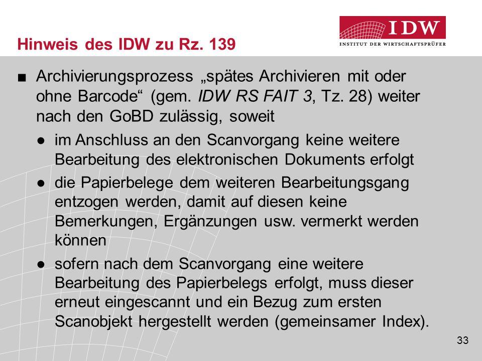 33 Hinweis des IDW zu Rz.