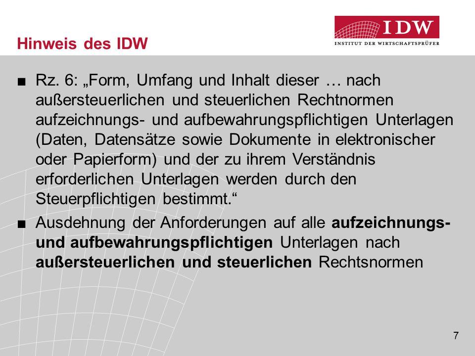 7 Hinweis des IDW ■Rz.