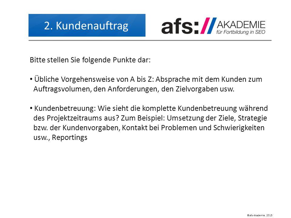 ©afs-Akademie, 2015 2.