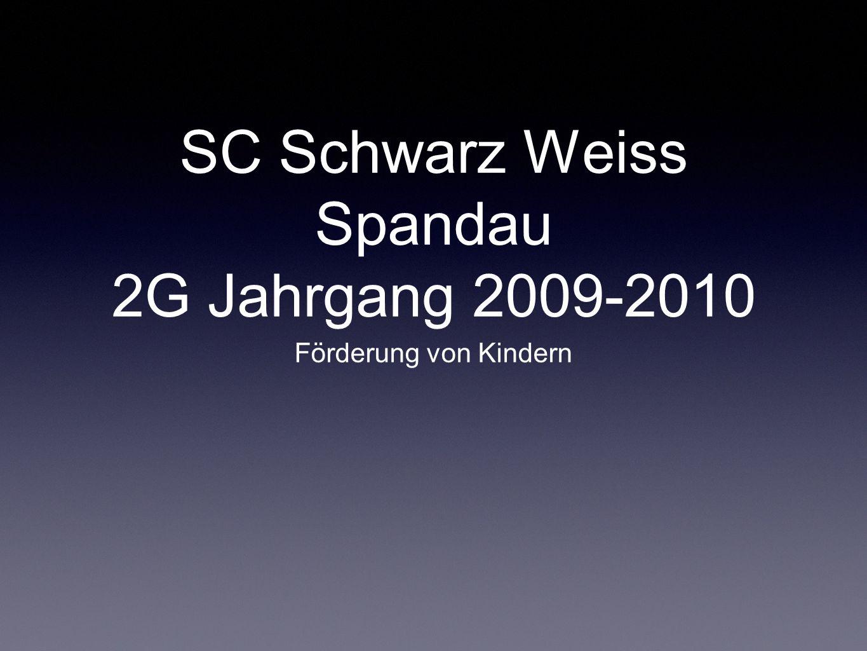 SC Schwarz Weiss Spandau 2G Jahrgang 2009-2010 Förderung von Kindern