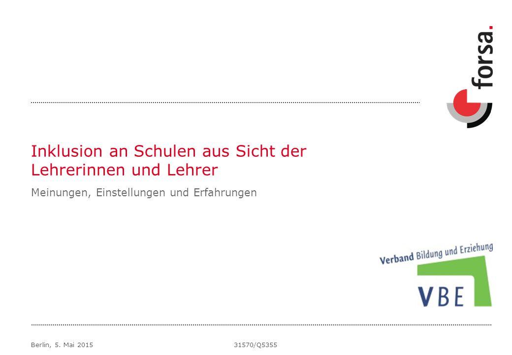 Inklusion an Schulen aus Sicht der Lehrerinnen und Lehrer Berlin, 5.