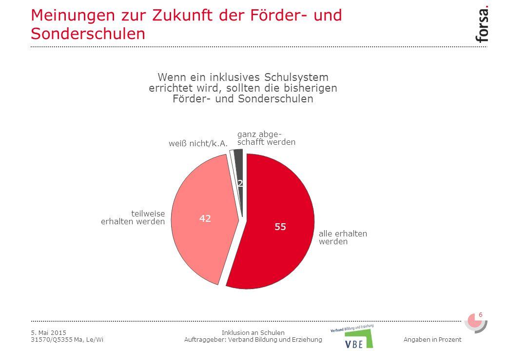 Inklusion an Schulen Auftraggeber: Verband Bildung und Erziehung 6 5.