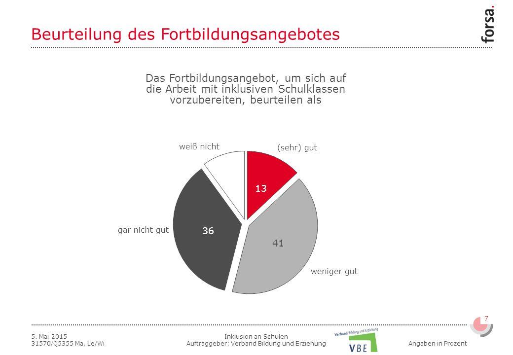 Inklusion an Schulen Auftraggeber: Verband Bildung und Erziehung 7 5.