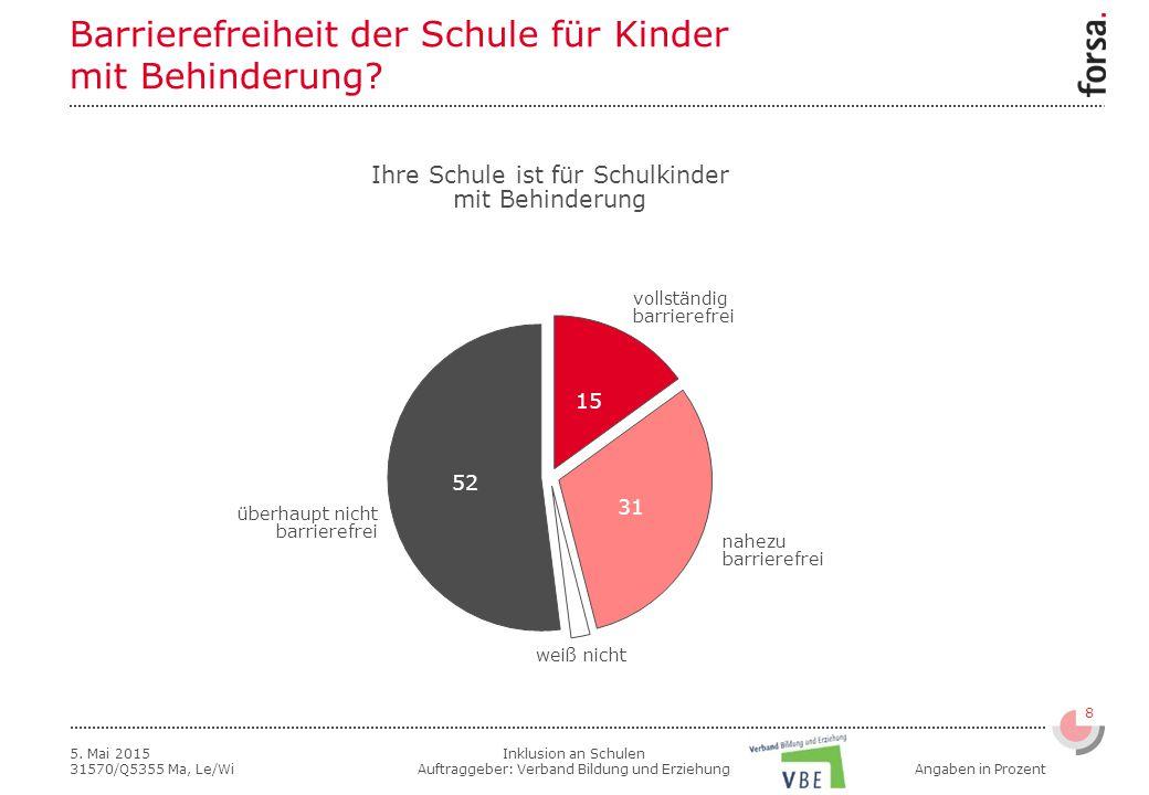 Inklusion an Schulen Auftraggeber: Verband Bildung und Erziehung 8 5.