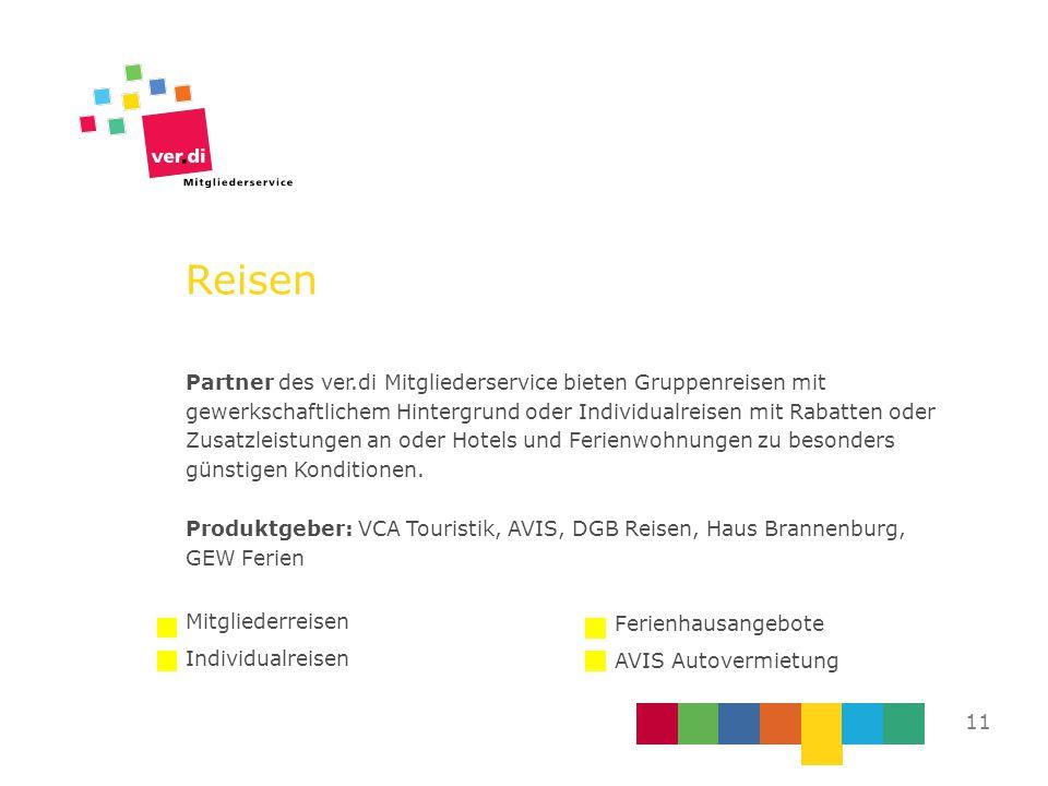 Reisen Partner des ver.di Mitgliederservice bieten Gruppenreisen mit gewerkschaftlichem Hintergrund oder Individualreisen mit Rabatten oder Zusatzleis
