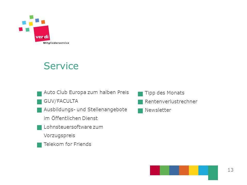 13 Auto Club Europa zum halben Preis GUV/FACULTA Ausbildungs- und Stellenangebote im Öffentlichen Dienst Lohnsteuersoftware zum Vorzugspreis Telekom f