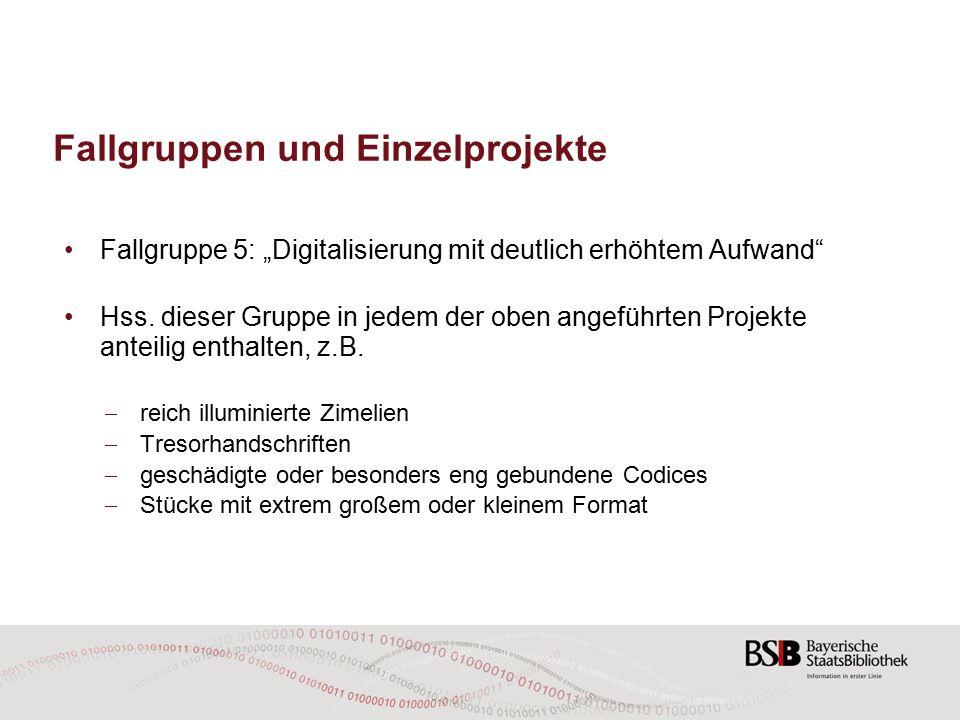 Digitalisierung mittelalterlicher deutscher Pergamenthandschriften (Cgm 1–200) Empirische Überprüfung der Annahme (Stand: Januar 2015): Tatsächliche Einteilung in drei Aufwandskategorien (völlig unproblematisch, durchschnittlich, problematisch)