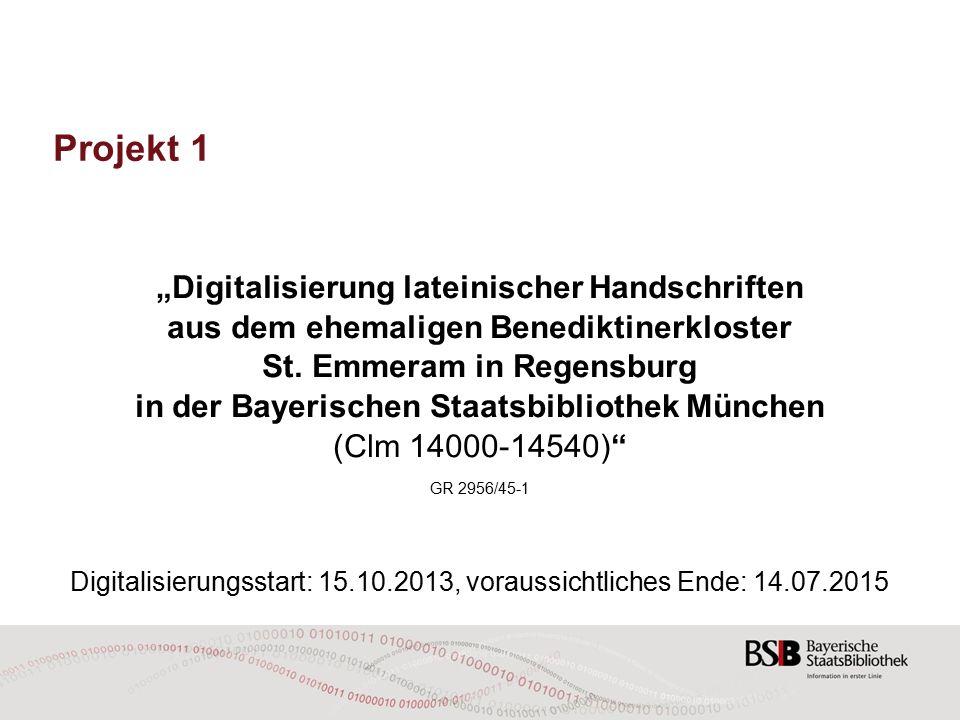Digitalisierung lat.Handschriften aus St.