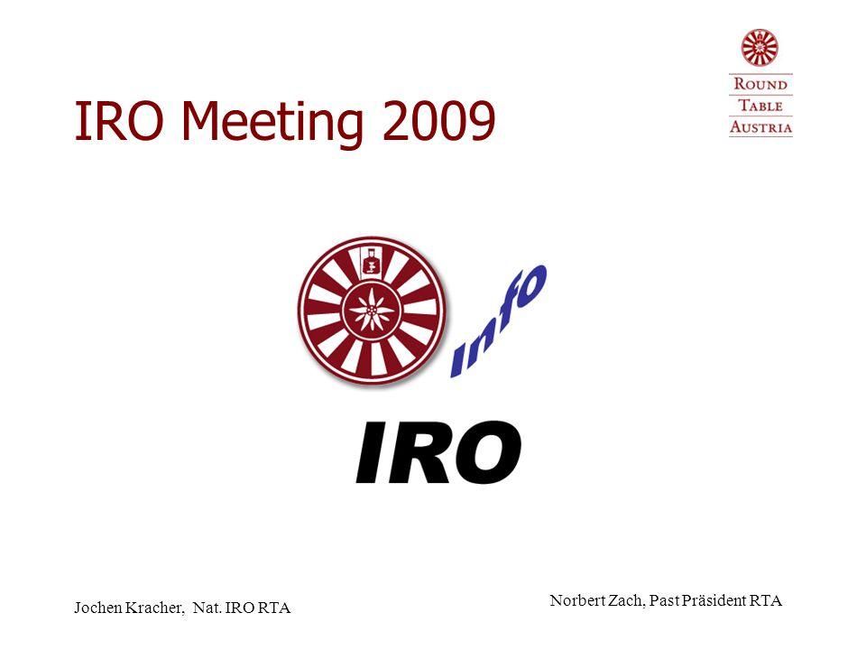 Jochen Kracher, Nat. IRO RTA IRO Meeting 2009 Norbert Zach, Past Präsident RTA