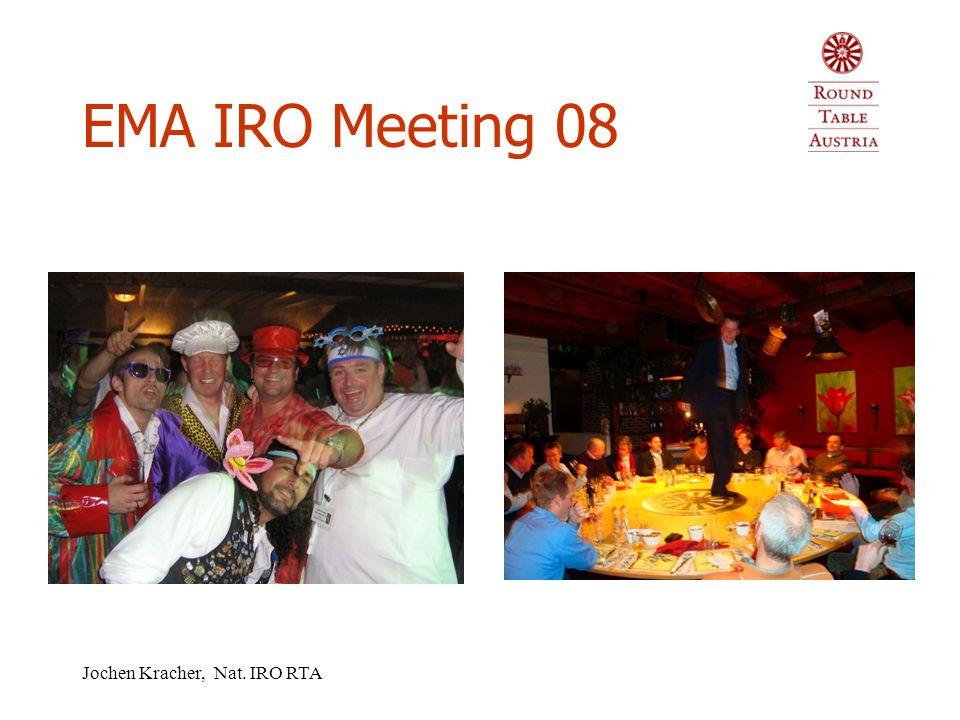 Jochen Kracher, Nat. IRO RTA EMA IRO Meeting 08 Niederlande  Meeting – parallel zu HJV  Zeitdruck – Nationen konnten Anliegen nicht präsentieren  A