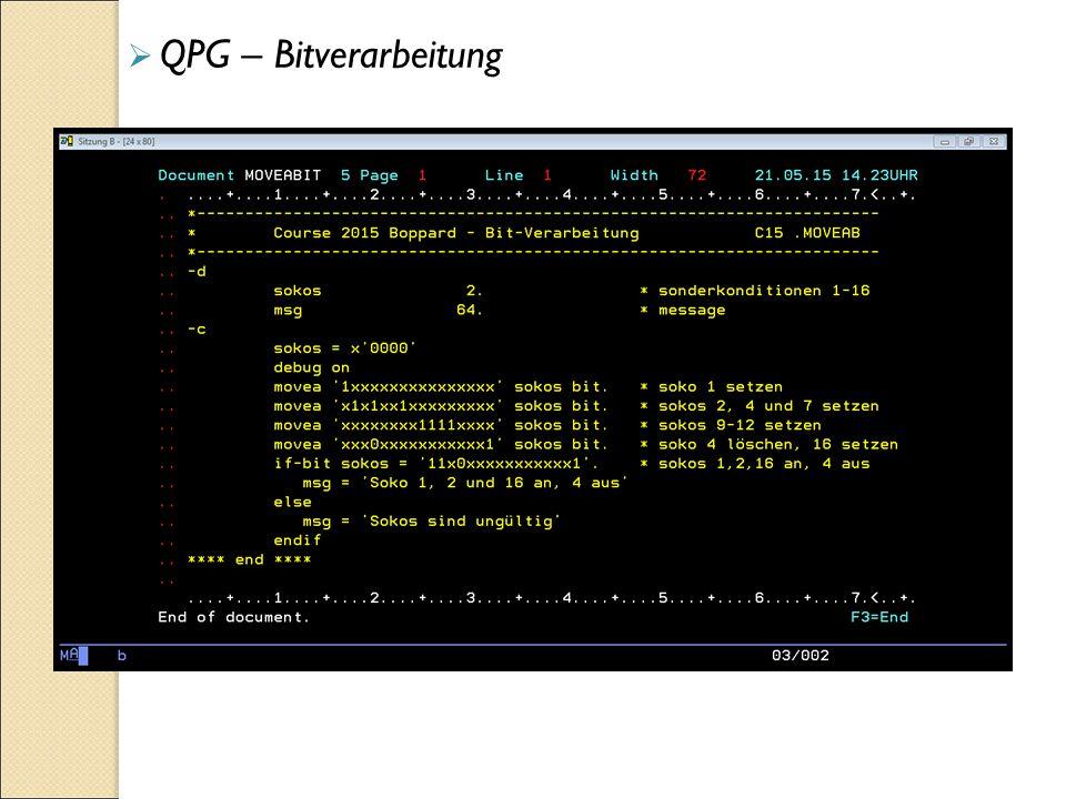  QPG – Bitverarbeitung