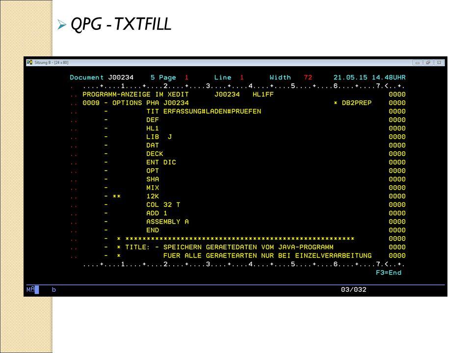  QPG - TXTFILL