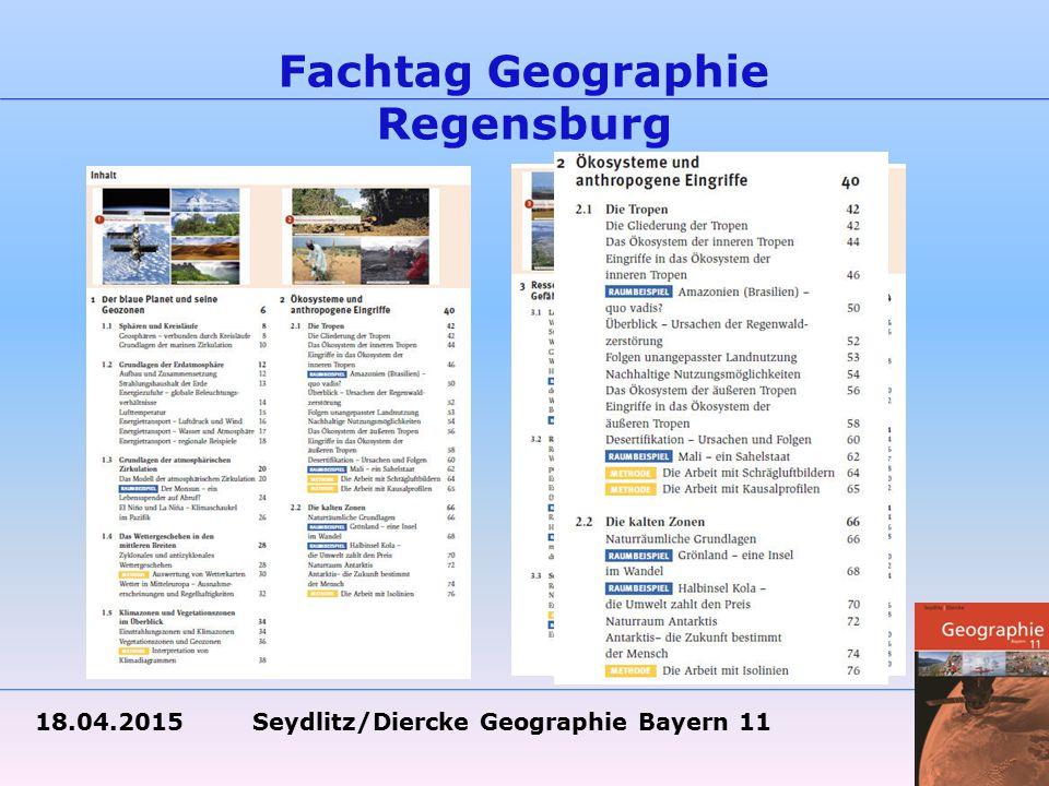18.04.2015 Seydlitz/Diercke Geographie Bayern 11 Fachtag Geographie Regensburg Übersichtlich – Verbesserung des Layouts: Sonderseiten sind klar abgegrenzt