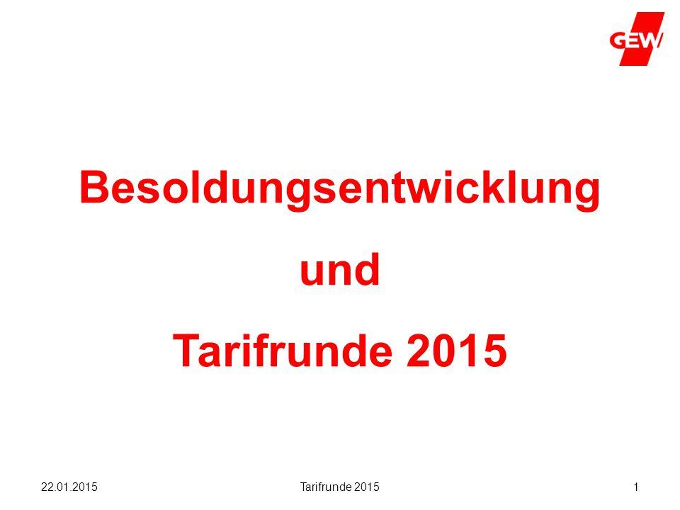 Hanau Tarifrunde 20151 Besoldungsentwicklung und Tarifrunde 2015 22.01.2015