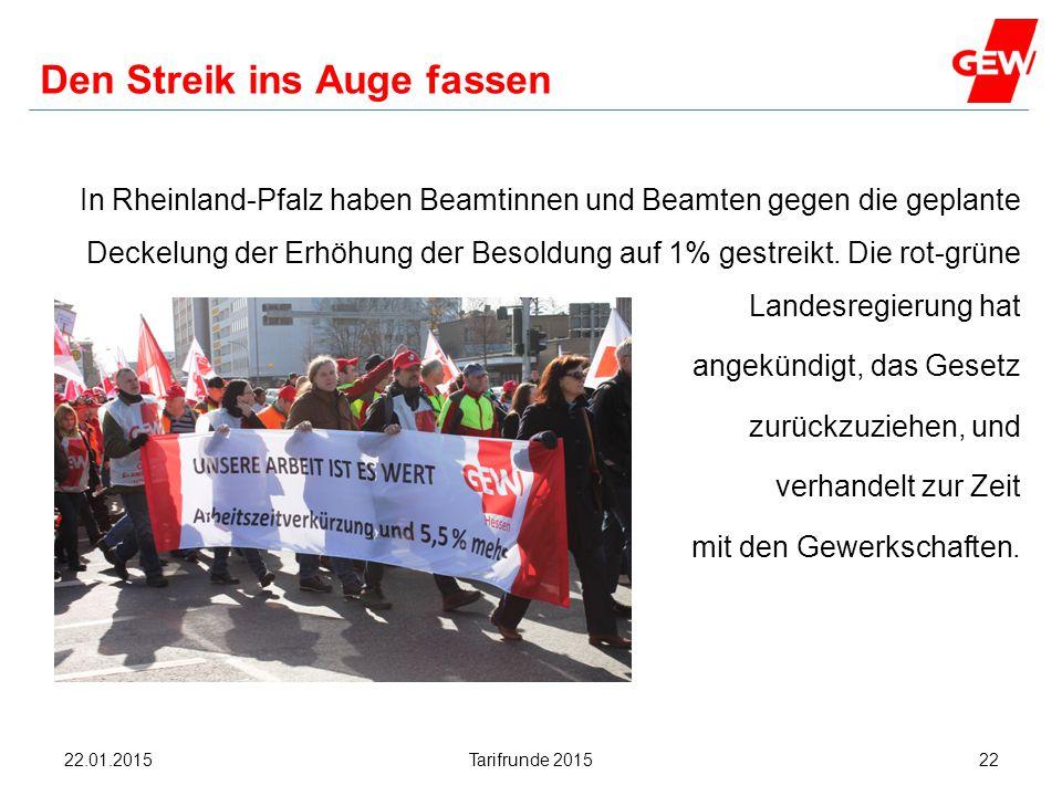 Hanau Den Streik ins Auge fassen In Rheinland-Pfalz haben Beamtinnen und Beamten gegen die geplante Deckelung der Erhöhung der Besoldung auf 1% gestre