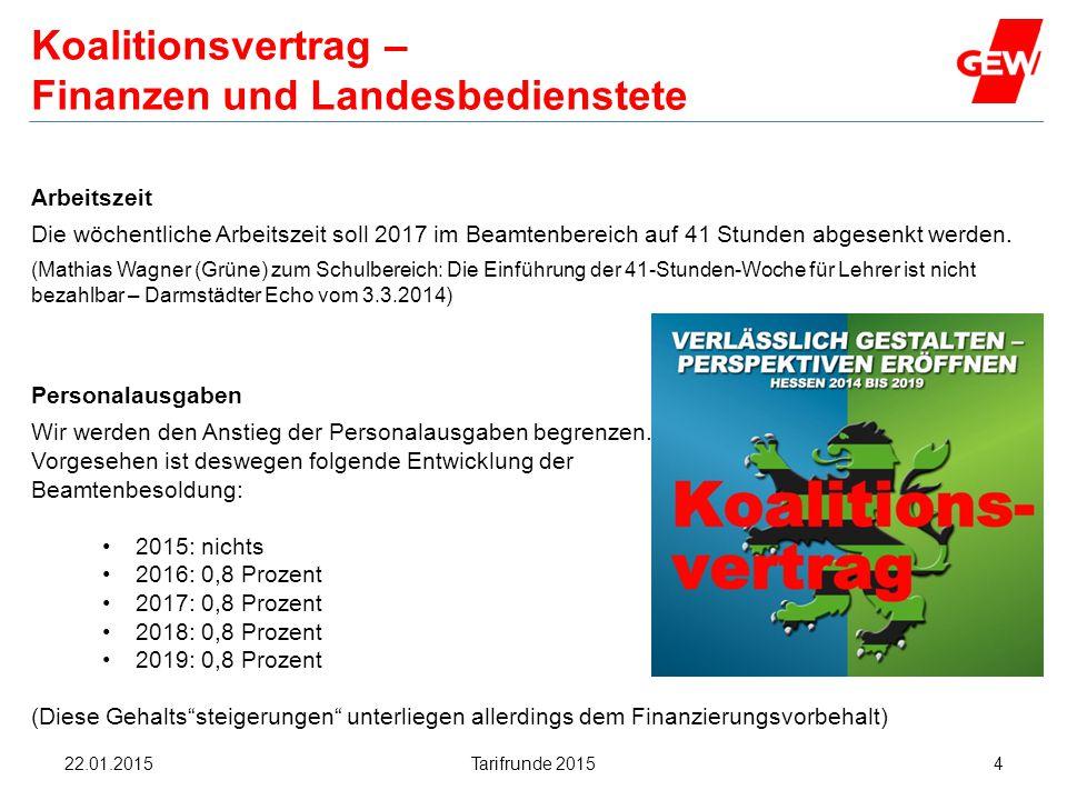 Hanau Koalitionsvertrag – Finanzen und Landesbedienstete Personalausgaben Wir werden den Anstieg der Personalausgaben begrenzen. Vorgesehen ist desweg
