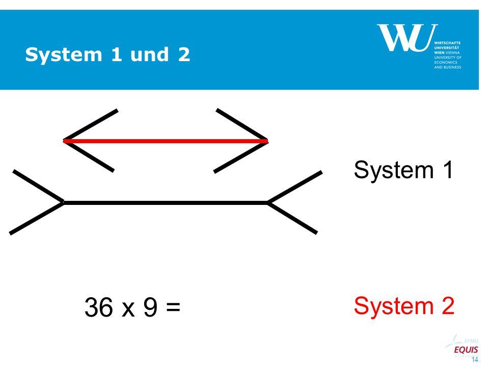 14 System 1 und 2 System 1 System 2 36 x 9 =