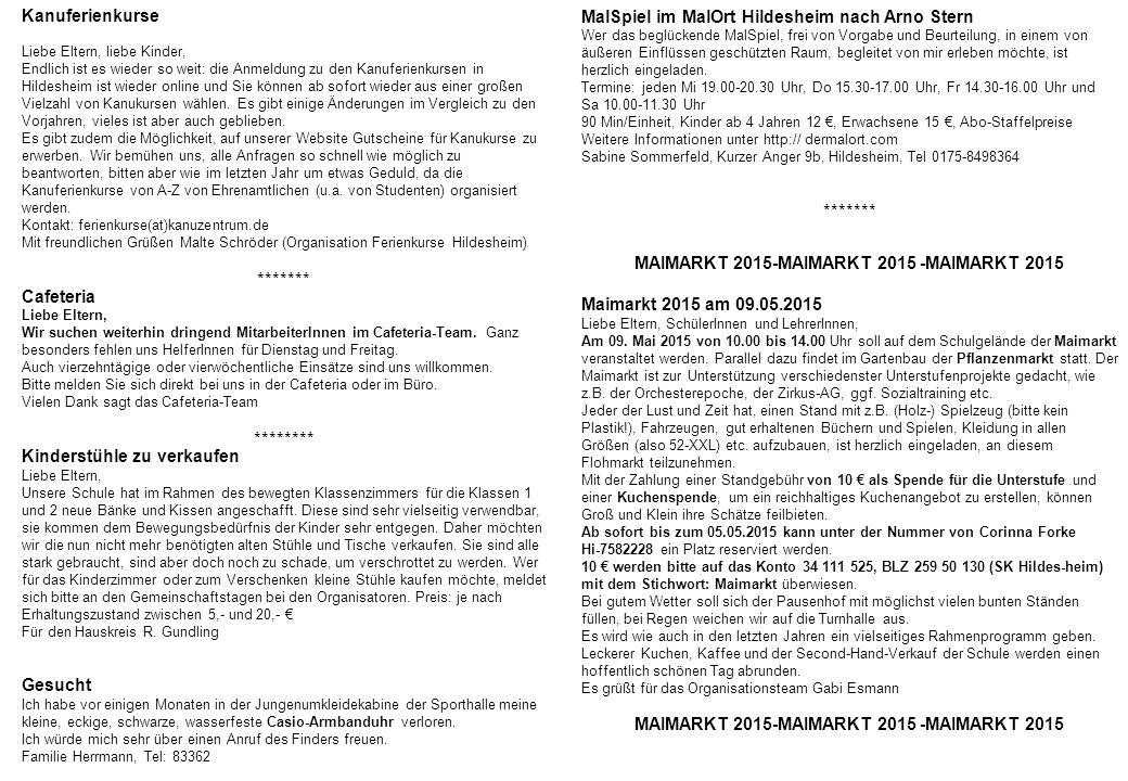Kanuferienkurse Liebe Eltern, liebe Kinder, Endlich ist es wieder so weit: die Anmeldung zu den Kanuferienkursen in Hildesheim ist wieder online und S