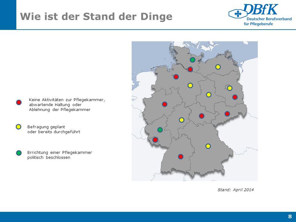 Eine Pflegekammer für Niedersachsen I.Einleitung II.
