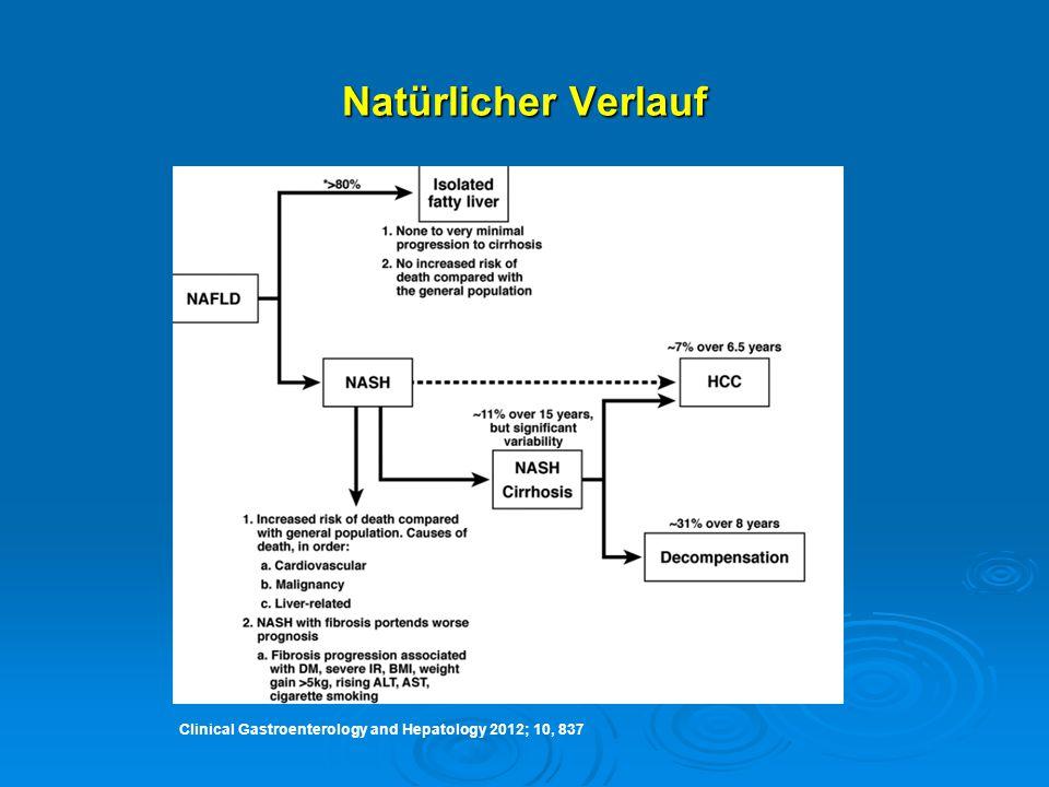 Natürlicher Verlauf Clinical Gastroenterology and Hepatology 2012; 10, 837