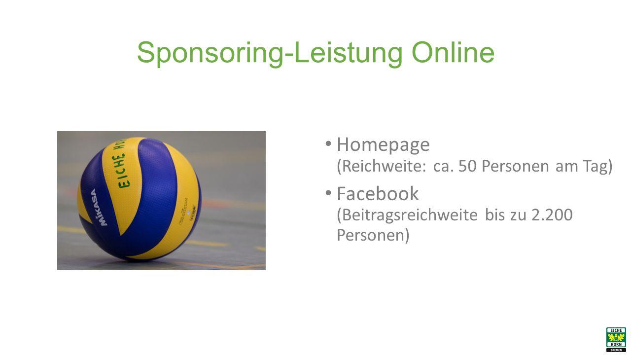 Sponsoring-Leistung Online Homepage (Reichweite: ca.