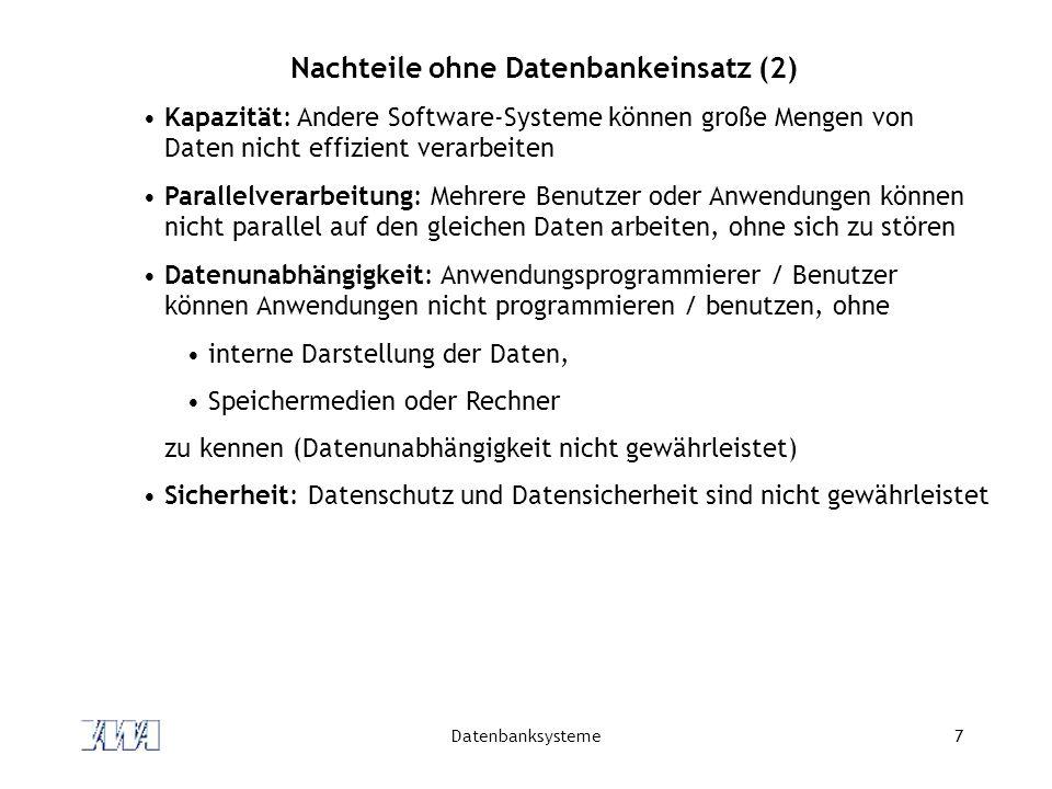 Datenbanksysteme38 Das Relationale DM E.F.Codd.