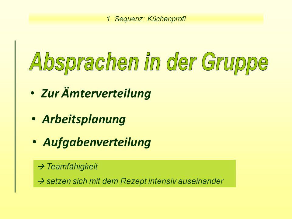 Zur Ämterverteilung Aufgabenverteilung 1.