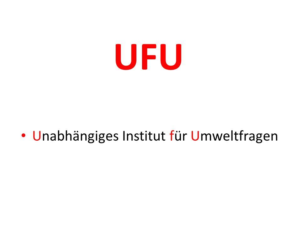 UFU Unabhängiges Institut für Umweltfragen