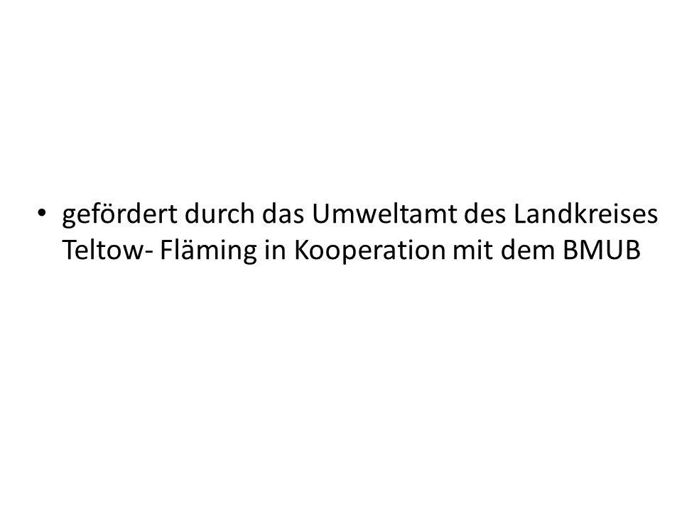 gefördert durch das Umweltamt des Landkreises Teltow- Fläming in Kooperation mit dem BMUB