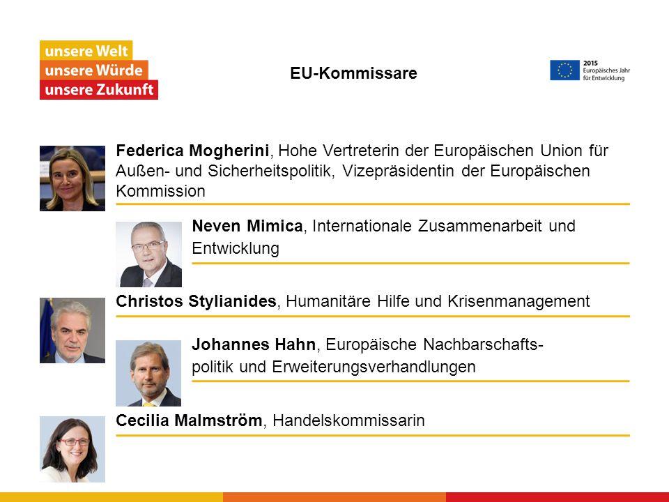 Bewusstsein schaffen für die Vorteile der EU-Entwicklungs- zusammenarbeit und Förderung eines gemeinsamen Verantwortungsbewusstseins, Solidarität und Chancen- gleichheit in einer zunehmend miteinander verflochtenen Welt.