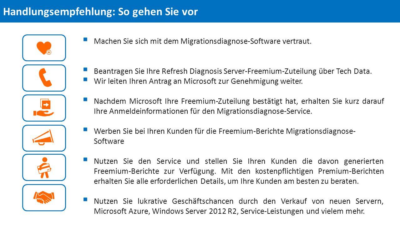  Machen Sie sich mit dem Migrationsdiagnose-Software vertraut.