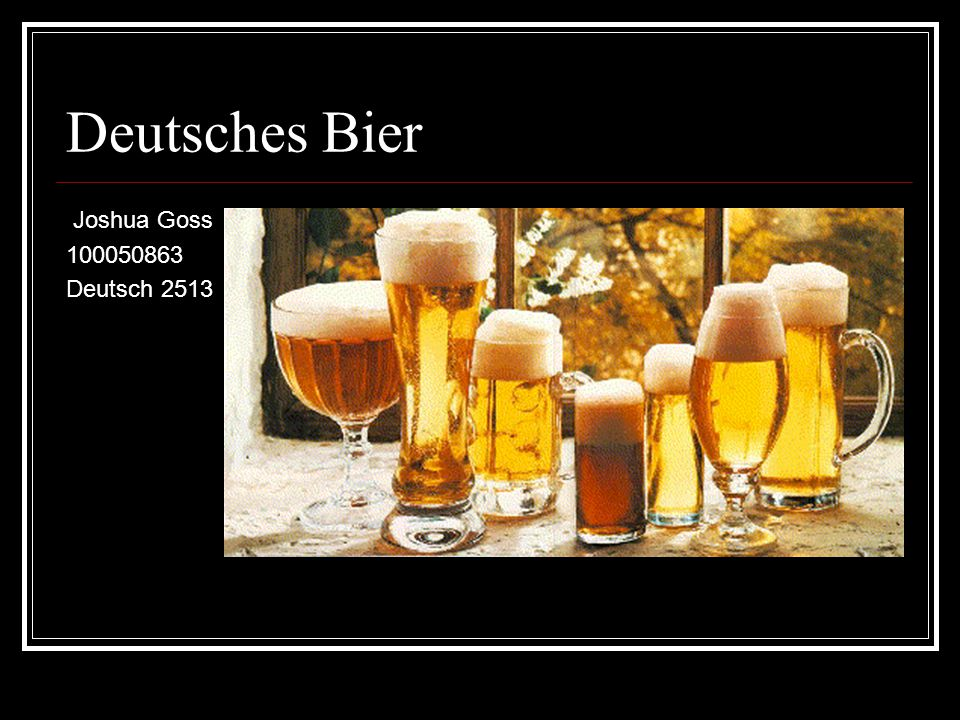 Deutsches Bier Joshua Goss 100050863 Deutsch 2513