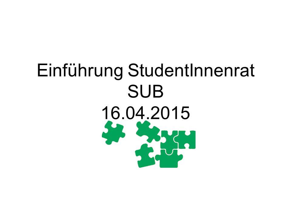 Einführung StudentInnenrat SUB 16.04.2015