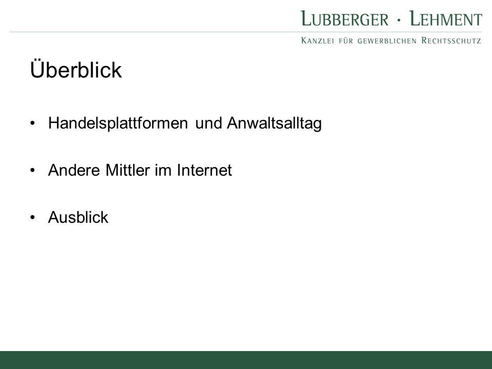 Andere Mittler im Internet Google LG Hamburg, Urt.