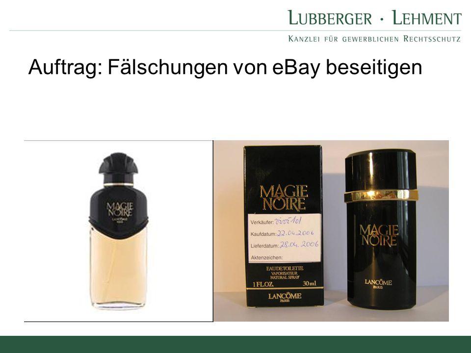 """Fazit für Erstabmahnung: Vorlage des Angebots Anbieter A bietet am xx.xx.2009 Parfum """"Lancome 30 ml an Darlegung RVerletzung (§ 14 Abs."""