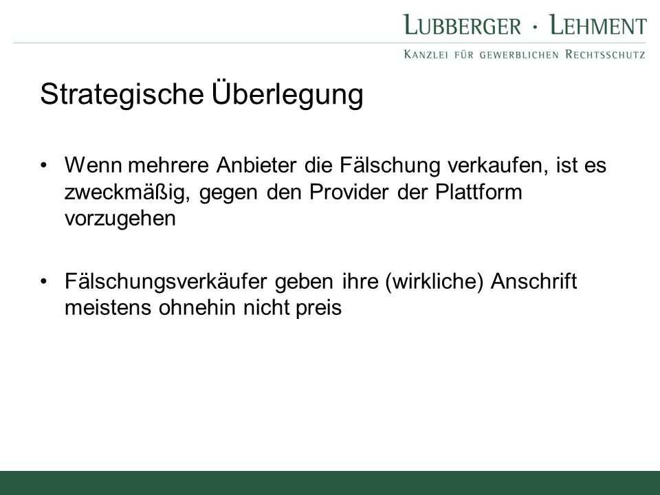 """Haftungssystem BGH zur Störer-Haftung für SchutzR-Verletzungen (Internet-Versteigerung I und II): """"Dies bedeutet, dass die Bekl."""