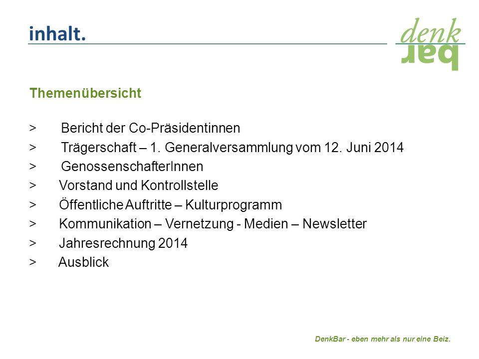 Themenübersicht > Bericht der Co-Präsidentinnen > Trägerschaft – 1.